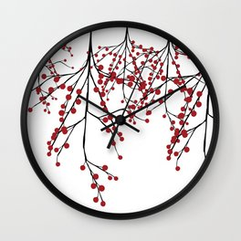 Baies rouges Wall Clock