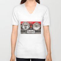 danny haas V-neck T-shirts featuring MG Danny by Catherine Doolan