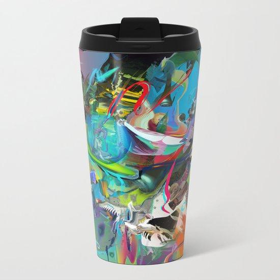 Microcrystalline Tendrils Metal Travel Mug
