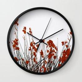 Minimal Garden Fall Scene #decor #society6 #buyart Wall Clock