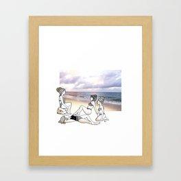 Girlfriends at the Beach Framed Art Print