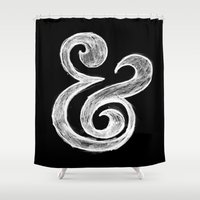 ampersand Shower Curtains featuring Ampersand by Artworks by Pablo Zarate Inc.