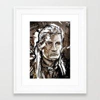 legolas Framed Art Prints featuring Legolas by Patrick Scullin