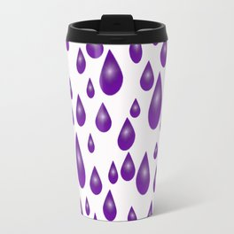 Purple Raindrops Travel Mug