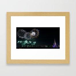 Blackheath Fireworks Framed Art Print