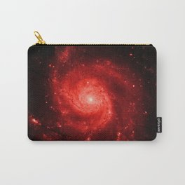 Pinwheel Galaxy Deep Red Carry-All Pouch