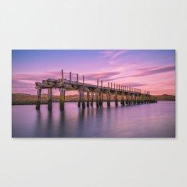 The Old Bridge at Sunset Canvas Print