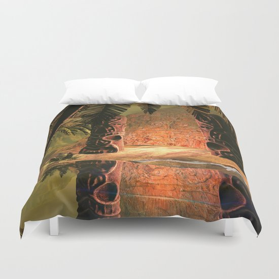 The magical temple Duvet Cover