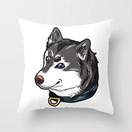 Siberian Huskie Husky Sibiria Gift Present Dog Throw Pillow