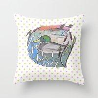 ducks Throw Pillows featuring Ducks by Inez Gulyas