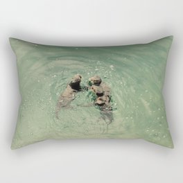 Otter Stories are Wild and True Rectangular Pillow