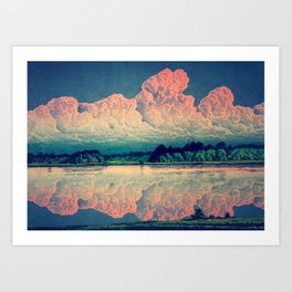 Admiring the Clouds in Kono Art Print