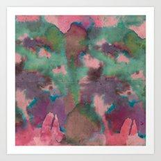 Pink Tie-dye Art Print