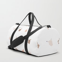 Middle Fingers With Colored Nails Duffle Bag