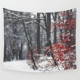 Winter Day in a forest Wall Tapestry