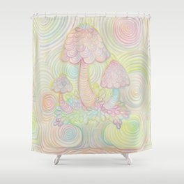 Treeshrooms Shower Curtain
