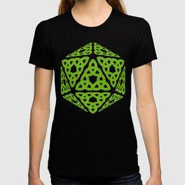 St Patrick's Day Celtic Triquetra D20 T-shirt