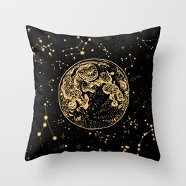 Into The Galaxy Throw Pillow