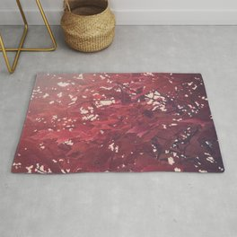Purple Leaves Rug