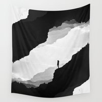mountains Wall Tapestries featuring White Isolation by Stoian Hitrov - Sto