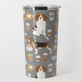 Beagle coffee dog breed gifts pupuccino dog lover beagles pure breed Travel Mug