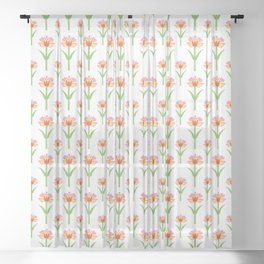 Papercut Florals Sheer Curtain