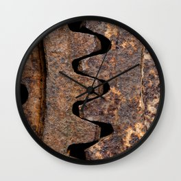 Old and rusty cogwheels Wall Clock