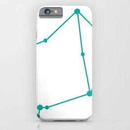 Libra (Turquoise & White) iPhone Case