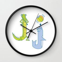J Uppercase/Lowercase Pair, no border Wall Clock