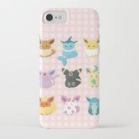eevee iPhone & iPod Cases featuring Eevee Evolutions by Nozubozu