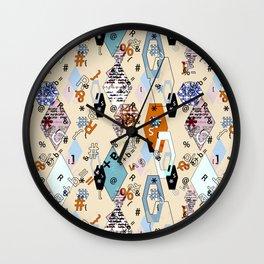 Children's , school . Collage. Wall Clock