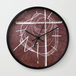 Religious Cross symbol Wall Clock