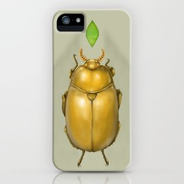 Gold bug iPhone Case