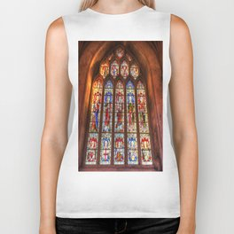 Stained Glass Abbey Window Biker Tank