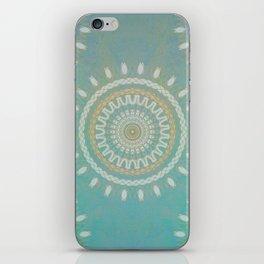Turquoise  Mandala #society6 #buyart #decor iPhone Skin