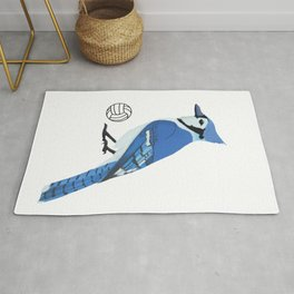 Volleyball Blue Jay Rug