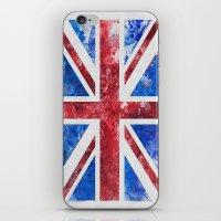 union jack iPhone & iPod Skins featuring Union Jack by LebensART
