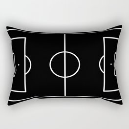 Soccer field / Football field in Black and White Rectangular Pillow