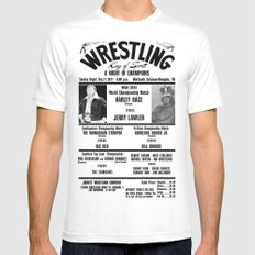 #2 Memphis Wrestling Window Card White SMALL Mens Fitted Tee