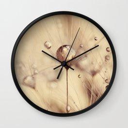 dandelion gold drop Wall Clock