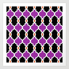 Hollywood Regency Trellis Pattern 637 Art Print