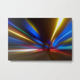 Light Trails in the Dark,Traffic Light Trails,AbstractTraffic Lines Metal Print