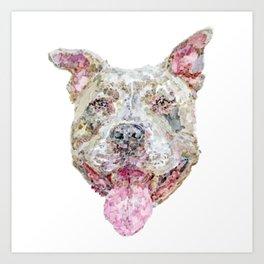 Pittie Smile Art Print