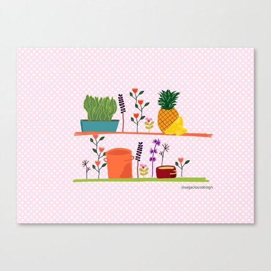 Happy shelf Canvas Print