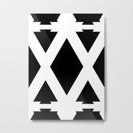 Dancing Arrows - Seamless Geometric Pattern Metal Print