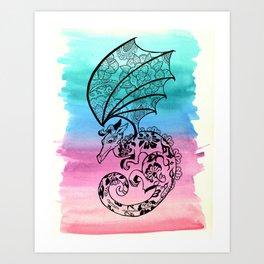 Lace Dragon Art Print