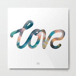 "The Love Series #10 - ""Love"" (typography) Metal Print"