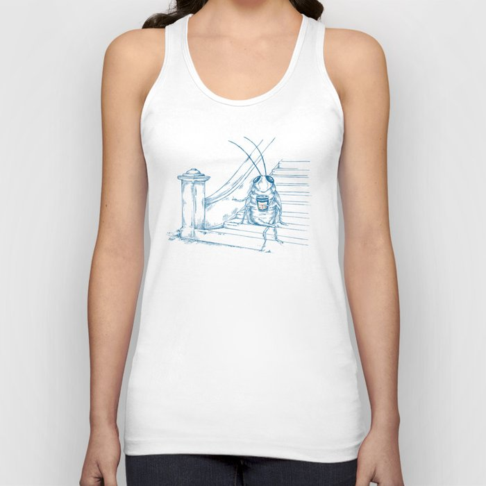 Cup O' Coffee NYC Style_cockroach Unisex Tank Top