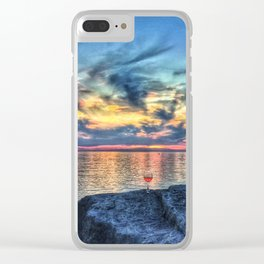 Wine & Sunsets Clear iPhone Case