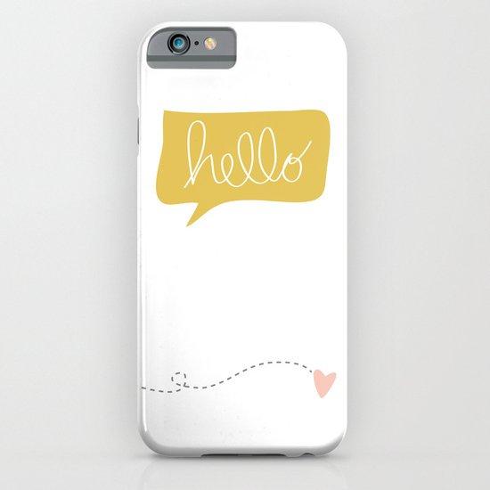 Hello Gorgeous White iPhone & iPod Case